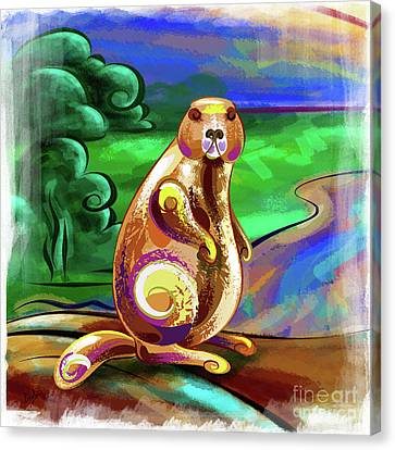 Beaver Pose Canvas Print