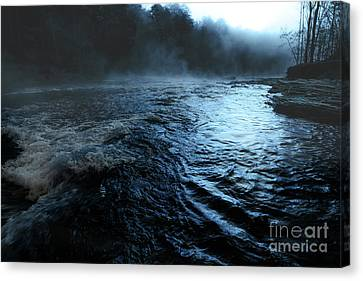 Beaver's Bend Fog Canvas Print by Tamyra Ayles