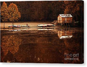 Beaver's Bend Quiet Morning Canvas Print by Tamyra Ayles