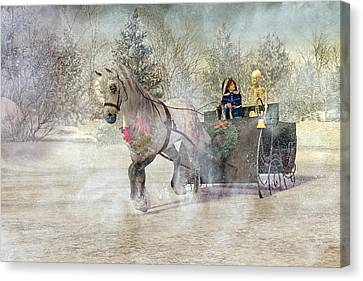Dappled Light Canvas Print - Because I Could Not Stop For Death by Betsy Knapp