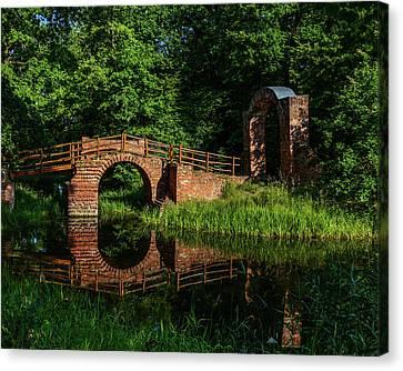 Beckerbruch Bridge Reflection Canvas Print