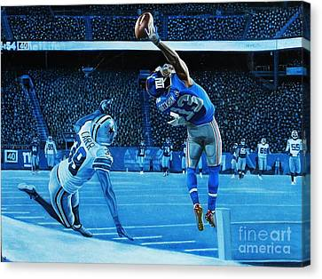 Wide Receiver Canvas Print - Beckham Legendary by Anthony Young