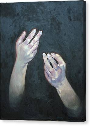 Beckoning Hands Canvas Print by Douglas Manry