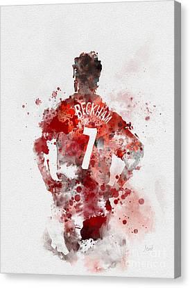 Sports Legends Canvas Print - Becks by Rebecca Jenkins