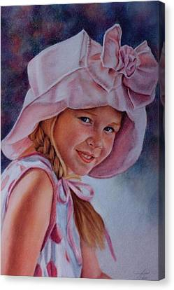 Canvas Print featuring the painting Becky by Ann Peck