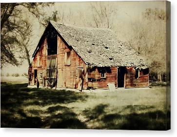 Beckys Barn 1 Canvas Print by Julie Hamilton