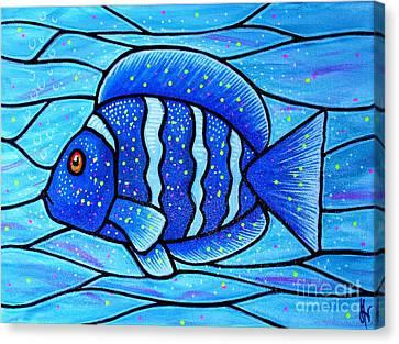 Beckys Blue Tropical Fish Canvas Print by Jim Harris
