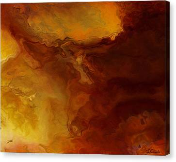 Becoming - Abstract Art - Triptych 3 Of 3 Canvas Print
