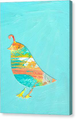 Quail Canvas Print - Becoming Quail by Jennifer Lommers