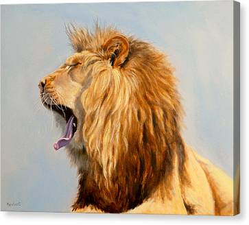 Bed Head - Lion Canvas Print