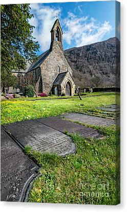 Beddgelert Church Canvas Print by Adrian Evans