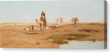 Bedouin Canvas Print - Bedouin In The Desert by Frederick Goodall