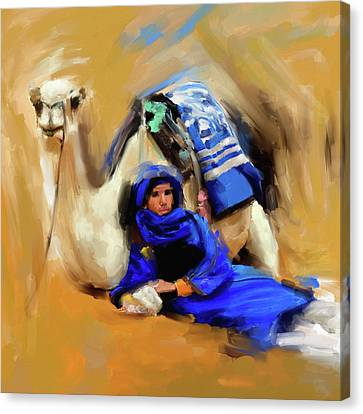 Bedouin Canvas Print - Bedouin Man 679 1 by Mawra Tahreem