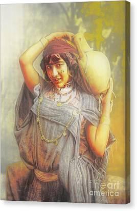 Bedouine Water Carrier Canvas Print