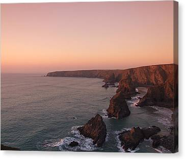 Bedruthan Steps Sunset Canvas Print