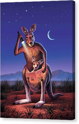 Bedtime For Joey Canvas Print