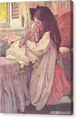 Bedtime Canvas Print by Jessie Wilcox Smith