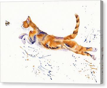 Cat Canvas Print - Bee Airborne by Debra Hall