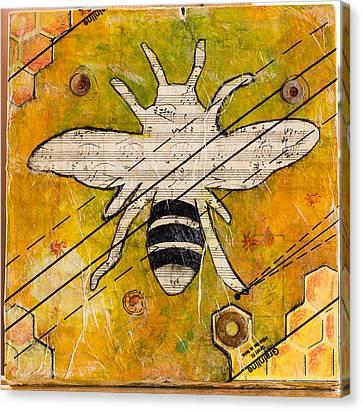 Bee Flat Canvas Print