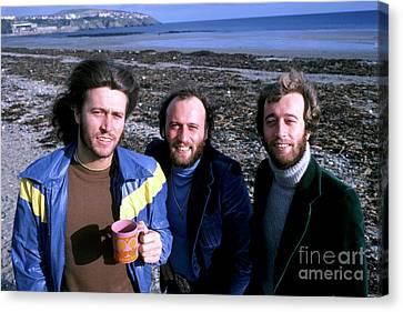 Canvas Print featuring the photograph Bee Gees 1976 by Chris Walter