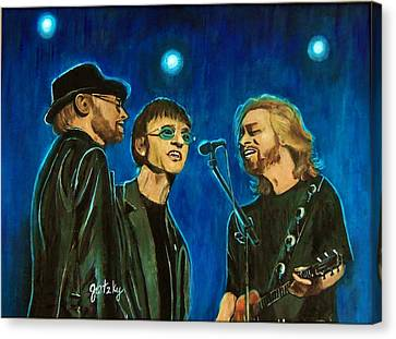 Bee Gees Canvas Print by Paintings by Gretzky
