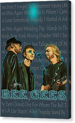 Bee Gees Poster Canvas Print by Paintings by Gretzky