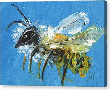 Keeper Canvas Print - Bee Painting by Jan Matson