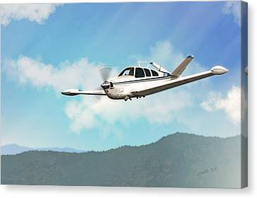 Beechcraft Bonanza V Tail Canvas Print by John Wills