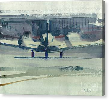 Beechcraft King Air Canvas Print by Donald Maier