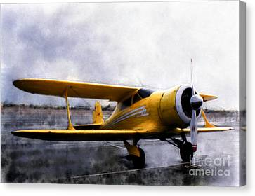 Beechcraft Stagger Wing Canvas Print by Arne Hansen