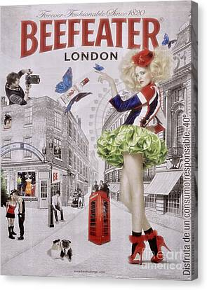 Beefeater Gin Canvas Print by Mary Machare