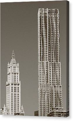 Beekman Woolworth Canvas Print by Christopher Kirby