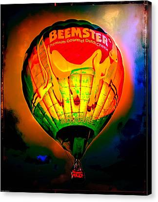 Hot Air Balloon Canvas Print - Beemster The Happy Hot Air Balloon by Thom Zehrfeld
