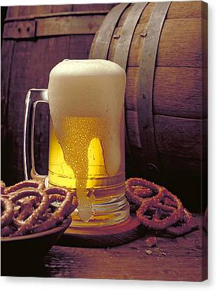 Beer And Pretzels Canvas Print by Thomas Firak