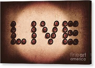 Beer Bottles Spelling Out The Word Live Canvas Print by Jorgo Photography - Wall Art Gallery