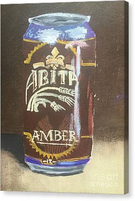 Abita Amber Beer Canvas Print - Beer Can by Colby Fox