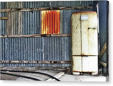 Canvas Print featuring the photograph Beer Fridge by Stephen Mitchell