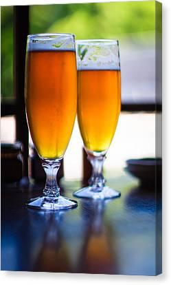 Beer Glass Canvas Print by Sakura_chihaya+