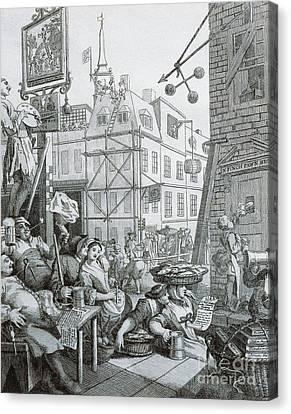 Hogarth Canvas Print - Beer Street In London by William Hogarth