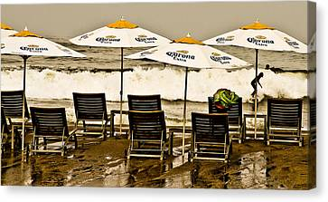 Beer Surf Canvas Print by Atom Crawford