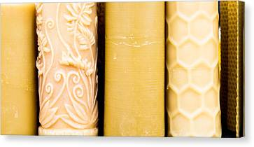 Beeswax Canvas Print - Beeswax Candles by Tom Gowanlock