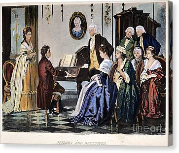 Beethoven & Mozart, 1787 Canvas Print by Granger