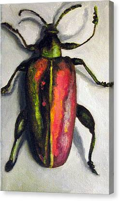 Beetle Canvas Print by Leah Saulnier The Painting Maniac