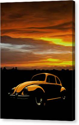 Beetle Sunset Canvas Print