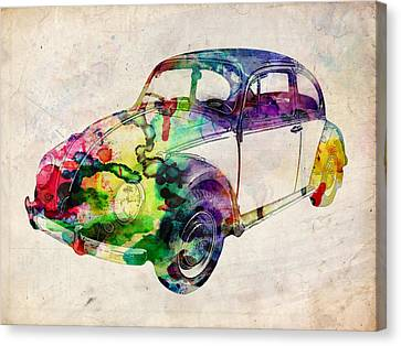 Beetle Urban Art Canvas Print by Michael Tompsett