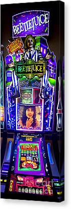 Beetlejuice Slot Machine Lumiere Place Casino Canvas Print by David Oppenheimer