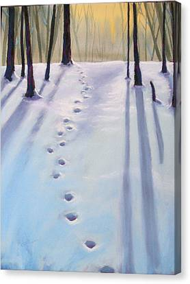 Before Dusk In Deep Snow Canvas Print by Christine Camp