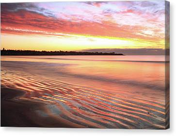 Canvas Print featuring the photograph Before Sunrise At First Beach by Roupen  Baker