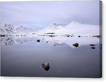 Canvas Print featuring the photograph Before Sunrise, Glencoe by Grant Glendinning