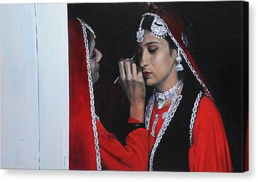 Before The Dance At The National Eisteddfod Canvas Print